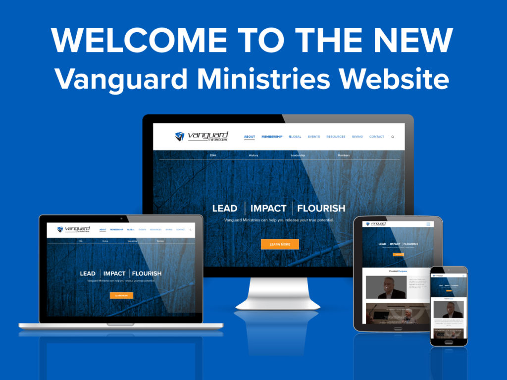 welcome to the new Vanguard ministries website